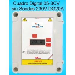 Cuadro Electrico Digital para Bombas Hasta 3CV-HP CSD1DG20A