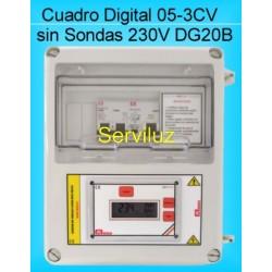 Cuadro Electrico Digital para Bombas Hasta 3CV-HP con Diferencial DG20B.