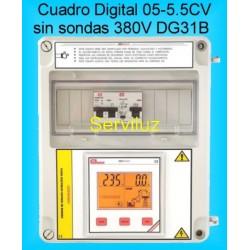 Cuadro Electrico Digital para Bombas Hasta 5,5CV-HP Trifasico con Diferencial CSD1DG31B