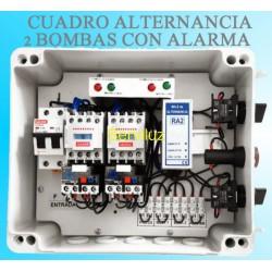 Cuadro de Alternancia para 2 bombas Monofasico 230V y 0.33-0.50HP con Alarma