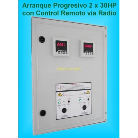 Armario Electrico para 2 Bombas de 30 HP con arrancadores Progresivos GSM