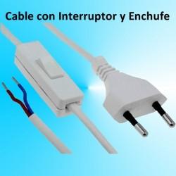 Cable con Interruptor y enchufe para Luz o lampara