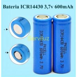 2x Batería ICR 14430 de litio Pila ICR14430 de Li-ion recargable