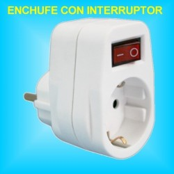 Base 1 Toma Enchufe con interruptor incorporado de 16A 250v