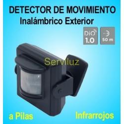 Detector Movimiento Inalámbrico Exterior DIO Sensor Pir a Pilas