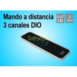 Mando a distancia de 3 canales (Emisor)  compatible con cualquier Receptor DIO