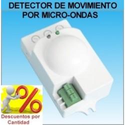 Detector de Movimiento Presencia (Radar) por Microondas para Luz (Iluminacion)