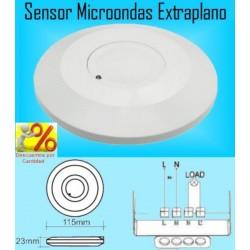 Detector de Movimiento y Presencia Sensor Microondas (Radar) Extraplano
