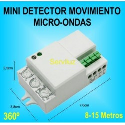 Mini Detector de Movimiento Microondas (Radar) para Luz (Iluminacion)