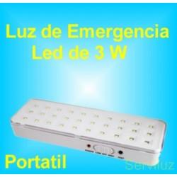 Luz de Emergencia Led 3W Portátil