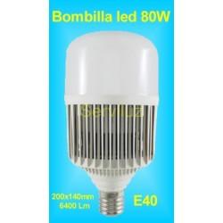 Bombilla Led 80W para Campanas Industriales de Alta Potencia E40