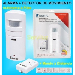 Alarma con Detector de Movimiento y Presencia Sensor PIR Autónoma