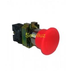 Pulsador SETA NC de Emergencia de 40mm 2 Motores para Cuadro Eléctrico