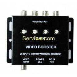 Amplificador de Video Distribuidor de Video de 1 a 4 Salidas RCA