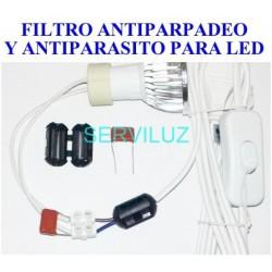 Filtro Anti-Parpadeo y Antiparásitos (Interferencias)  para LED