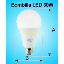 Bombilla LED 30W E27 6500K 2700 lm de Alta Potencia 21.6 cm