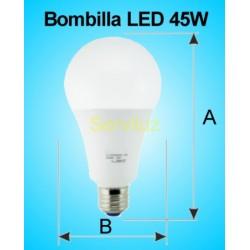 Bombilla LED 45W E27 6500K 3300 lm de Alta Potencia 24.5 cm