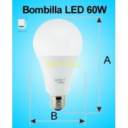 Bombilla LED 60W E27 6500K 4500 lm de Alta Potencia 28 cm