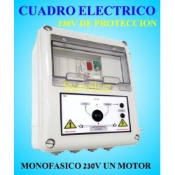 Cuadro eléctrico Bombas  Motor 230V Monofásico protección  0.75HP 1 HP CSD1-202