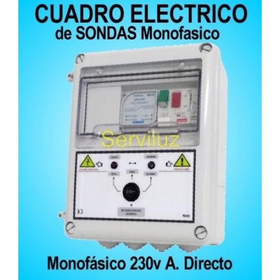 Cuadro Eléctrico con Sondas para Bomba de Pozo Motor Monofásicos 0.75  1 HP