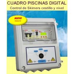 Cuadro Electrico Piscinas Digital con Control  Obstruccion  Skimers Cestillo 230