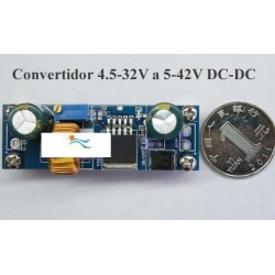 Convertidor de Voltaje de corriente continua DC DC, 4.5 32V a 5-