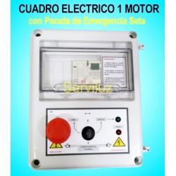 Cuadro Electrico 1 Motor Bomba Trifasico CSD-404+ Seta de Parada