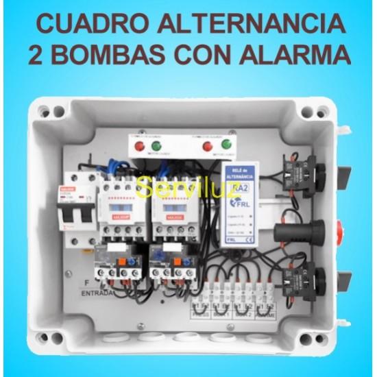 Cuadro de Alternancia para 2 bombas Trifasico 400V y 1 HP con Alarma
