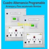 Cuadro de Alternancia Programable con arranque y paro escalonado de 3 Bombas