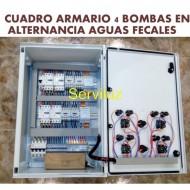 Cuadro Armario 4 bombas en Alternancia Aguas Fecales 3 HP Trifásico CSD4AL-405A