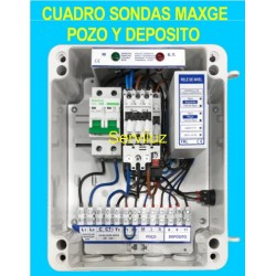 Cuadro de sondas 1 Bomba sumergible Pozo Deposito 0.75 1.00 HP Monofasico MAXGE