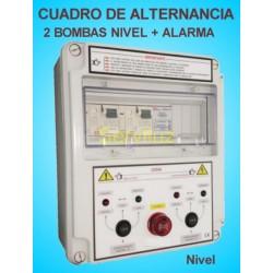 Cuadro de Alternancia Proteccion 2 Bombas y Alarma 380V 7.5  HP CSD2AL-408
