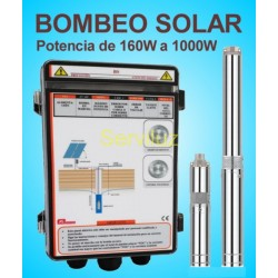 Bombeo Solar Directo de Placas Solares 24V DC de  pot 160W ref BS316064