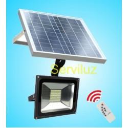 Foco Proyector Led Solar con Mando a Distancia de 30W