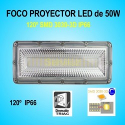 Campana LED Industrial Foco Proyector Lineal 50W 6500Lm IP65 120º