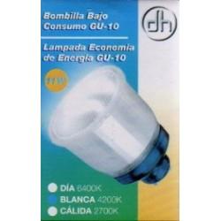Bombilla Bajo consumo (Sustitucion dicroicas) GU 10 11Watios