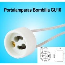 Portalamparas para Bombillas GU10 y  Dicroicas Led