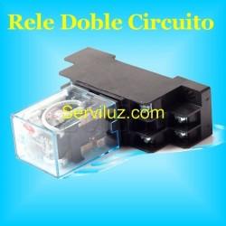 Rele para Sensor Movimiento y Detectores de Presencia + Base DIN