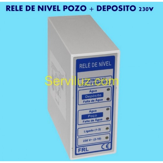 Rele de Nivel Pozo y Deposito Control Nivel de Liquidos 230V
