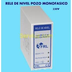 Rele de Nivel para Sondas de Pozo Liquidos Conductivos 230V Monofasico
