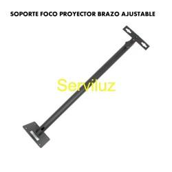 Soporte Foco Proyector Brazo Ajustable Exterior 50cm 100cm