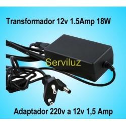 Transformador Adaptador de  220v a 12v 1.5Amp 18W