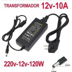 Transformador 12v 10A Transformador Fuente de Alimentacion de